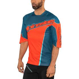 Alpinestars Crest 3/4 Jersey Herre poseidon blue/energy orange